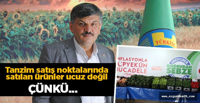 """""""TANZİM SATIŞ NOKTALARI ÇÖZÜM DEĞİL"""""""