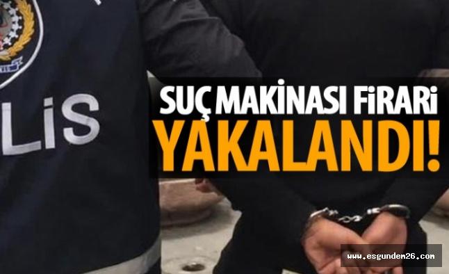 15 AYRI SUÇTAN ARANIYORDU, YAKALANDI!