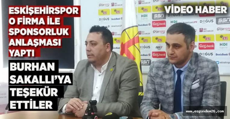 ESKİŞEHİRSPOR'A YENİ SPONSOR