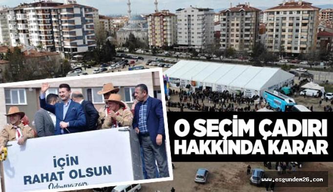 ODUNPAZARI SEÇİM KURULU 'KALDIR' DEDİ