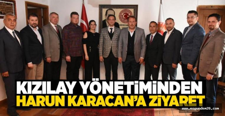 KIZILAY'DAN HARUN KARACAN'A ZİYARET