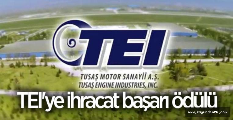 TEI'ye ihracat başarı ödülü