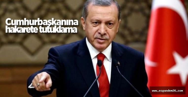 ESKİŞEHİR'DE ERDOĞAN'A HAKARETE TUTUKLAMA