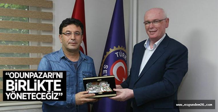 KAZIM KURT'TAN TÜRK HARB-İŞ'E HAYIRLI OLSUN ZİYARETİ