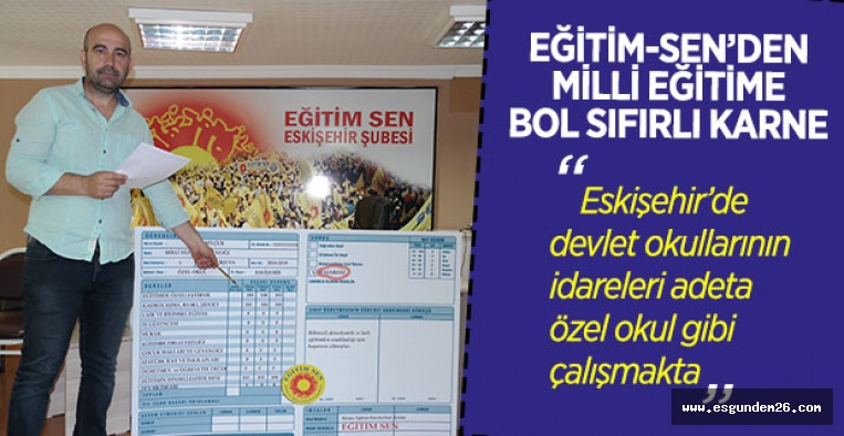 """""""MİLLİ EĞİTİM BAKANLIĞI SINIFTA KALDI"""""""