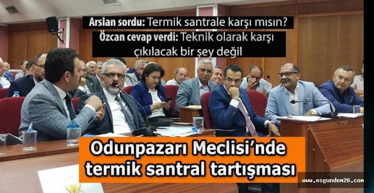 Odunpazarı Meclisi'nde termik santral tartışması