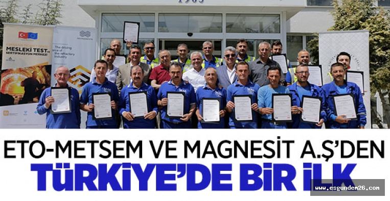TÜRKİYE'DE MADENCİLİK ALANINDA İLK!