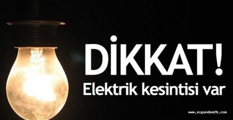 ESKİŞEHİR'DE ELEKTRİK KESİNTİSİ
