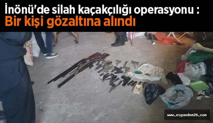 İnönü'de silah kaçakçılığı operasyonu