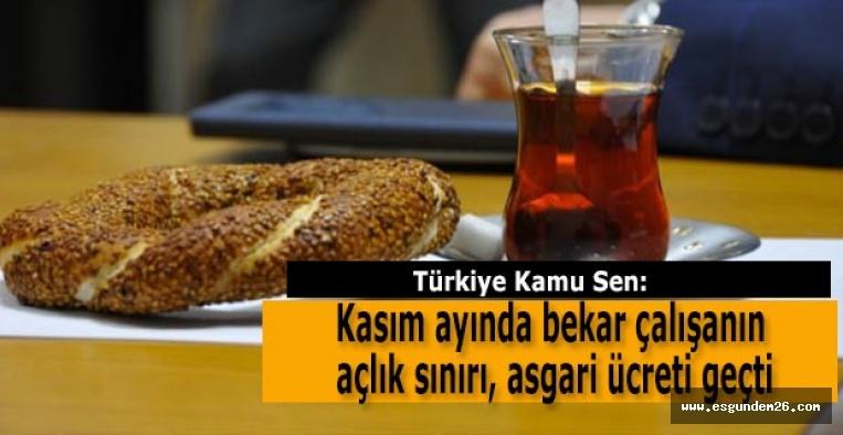Kamu Sen: Kasım ayında bekar çalışanın açlık sınırı, asgari ücreti geçti