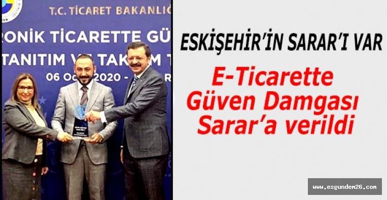 E-Ticarette Güven Damgası Sarar'a verildi