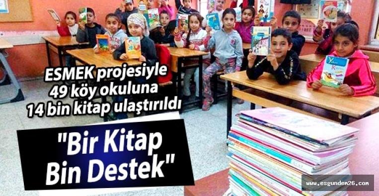 ESMEK projesiyle 49 köy okuluna 14 bin kitap ulaştırıldı