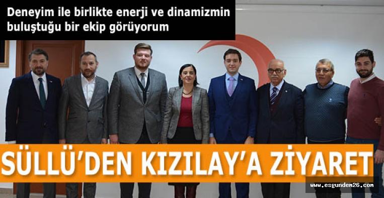 SÜLLÜ'DEN KIZILAY'A ZİYARET