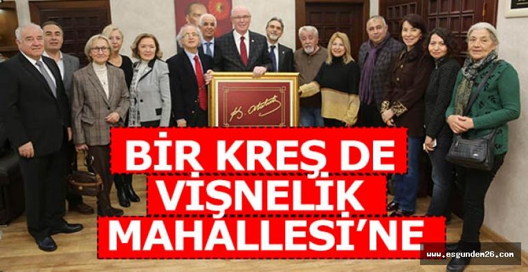 Vişnelik Mahalle Meclisi, Odunpazarı Belediye Başkanı Kazım Kurt'u ziyaret etti