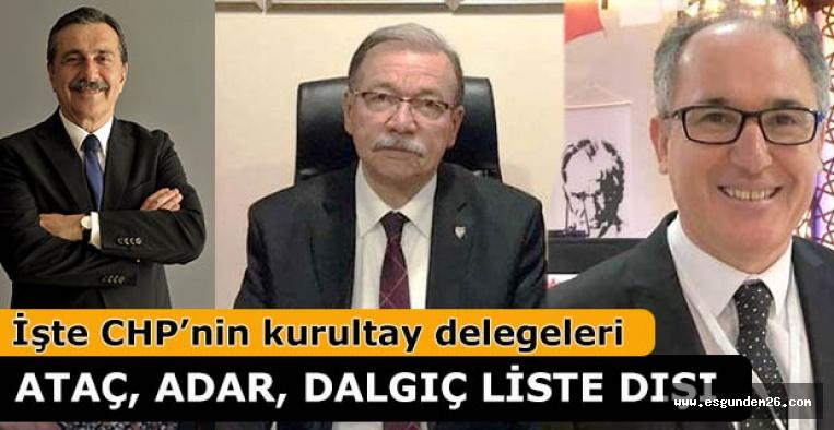 ATAÇ, ADAR, DALGIÇ LİSTE DIŞINDA KALDI