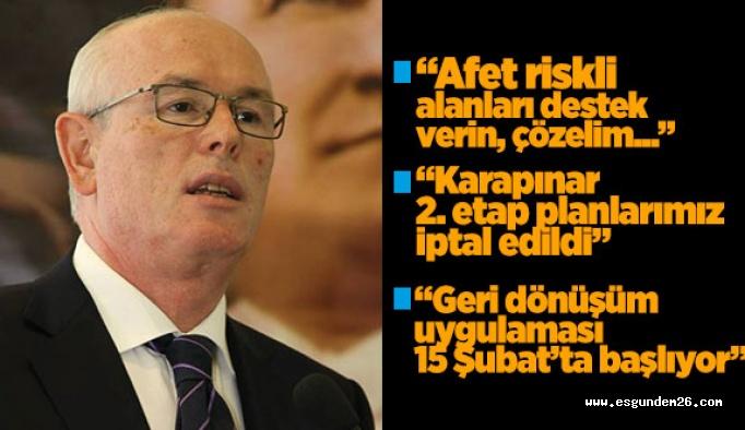 Kurt, afet riskli alanlar için AK Partililerden destek istedi