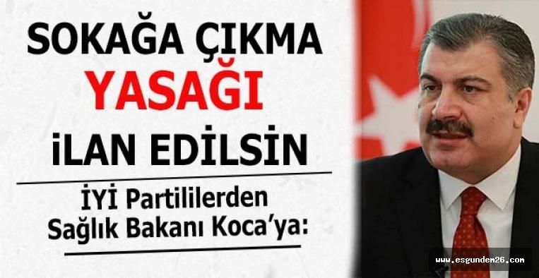İYİ Partili vekiller: Sokağa çıkma yasağı ilan edilsin