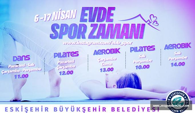 Büyükşehir 'evde spor zamanı' etkinliklerine başlıyor