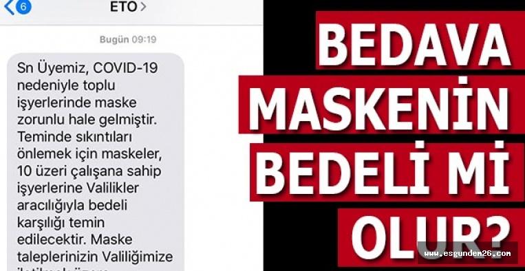 ETO ÜYELERİNE BÖYLE DUYURDU!