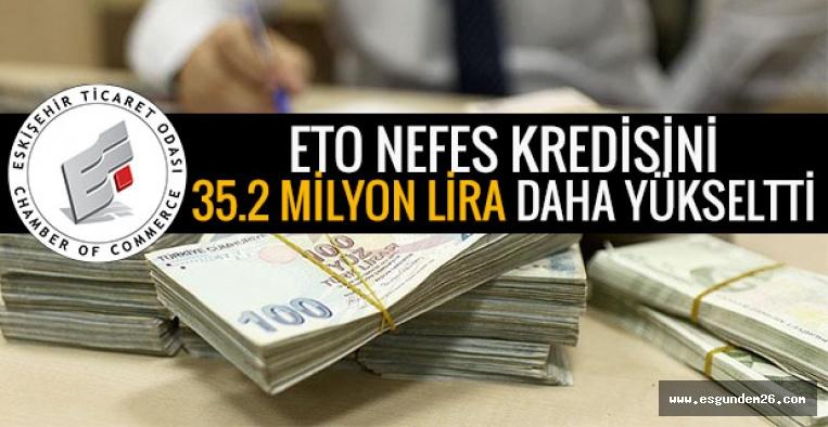 ETO NEFES KREDİSİNİ 35.2 MİLYON LİRA DAHA YÜKSELTTİ
