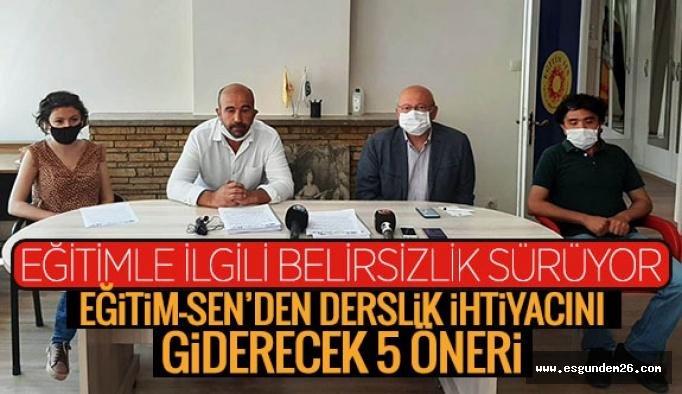 """Eğitim Sen sordu: 4 metrekareye 1 öğrenci kuralı Eskişehir' de nasıl hayata geçirilecektir?"""""""