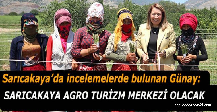 Emine Nur Günay: Sarıcakaya agro turizm merkezi olacak