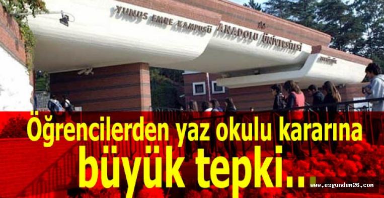 Öğrencilerden yaz okulu kararına büyük tepki…