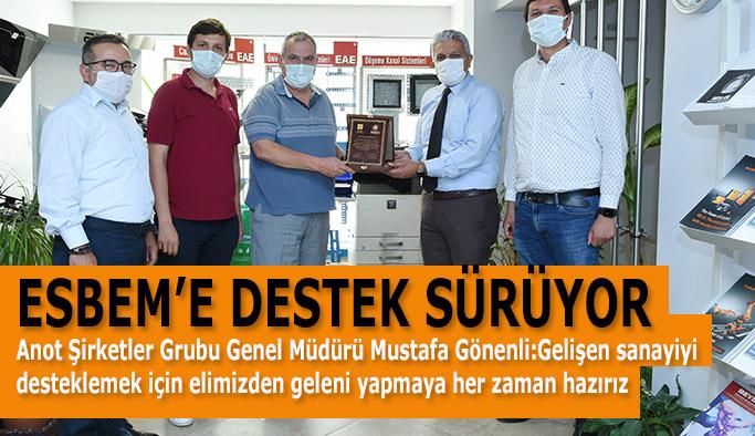 ESBEM'E BİR DESTEK DE ANOT ŞİRKETLER GRUBU'NDAN