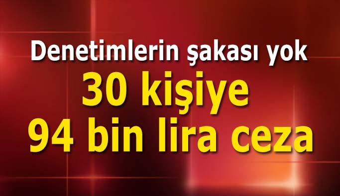 Eskişehir'de 30 kişiye ceza yağdı