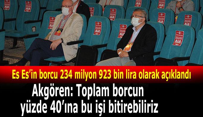 Eskişehirspor'un borcu 234 milyon 923 bin lira