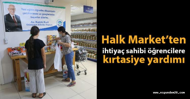 Halk Market'ten ihtiyaç sahibi öğrencilere kırtasiye yardımı