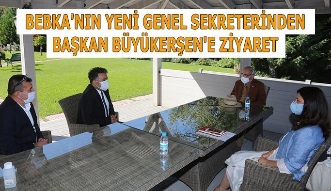 (BEBKA) Genel Sekreteri Doç. Dr. Muhammed Zeki Durak,  Yılmaz Büyükerşen'i ziyaret etti