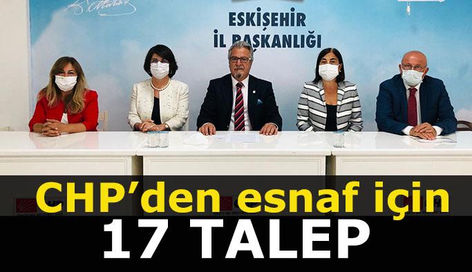 CHP'DEN ESNAF İÇİN 17 TALEP