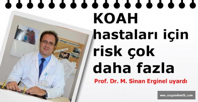 COVID-19 hastalığı riski KOAH hastalarında 5 kat artıyor