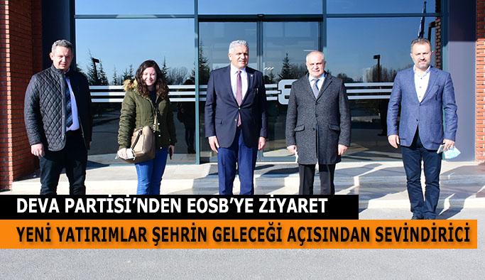 DEVA PARTİSİ'NDEN EOSB'YE ZİYARET