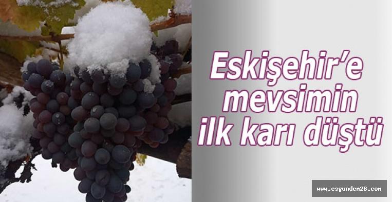 Eskişehir'e mevsimin ilk karı düştü