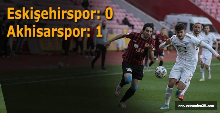 Eskişehirspor: 0 - Akhisarspor: 1