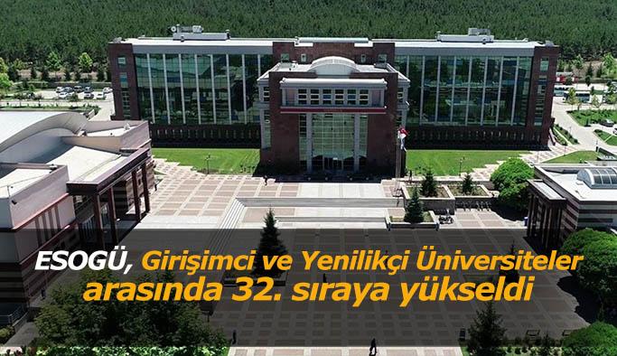 ESOGÜ, Girişimci ve Yenilikçi Üniversiteler arasında 32. sıraya yükseldi
