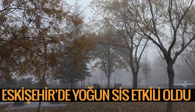 Eskişehir'in yüksek kesimlerinde sis etkili oldu