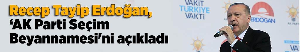 Erdoğan, AK Parti Seçim Beyannamesi'ni açıkladı
