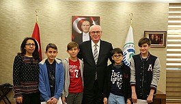 Başkan Kurt'tan öğrencilerin TÜBİTAK projesine destek