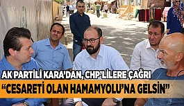"""AK Partili Kara; """"Dışarıdan sallayarak siyaset olmaz"""""""