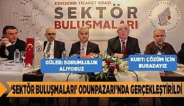 """""""SEKTÖR BULUŞMALARI"""" TOPLANTISI ODUNPAZARI'NDA GERÇEKLEŞTİRİLDİ"""