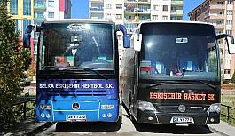 Takım otobüsleri Odunpazarı Belediyesi'nden