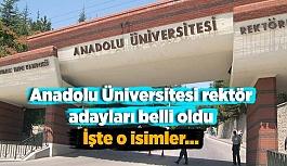 Anadolu Üniversitesi rektör adayları belli oldu