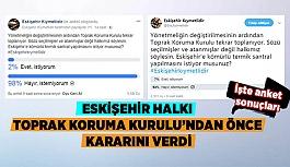 ESKİŞEHİR HALKI TOPRAK KORUMA KURULU'NDAN ÖNCE KARARINI VERDİ