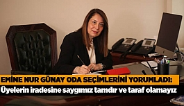 """Emine Nur Günay """"Üyelerin iradesine saygımız tamdır ve taraf olmamız mümkün değildir"""""""