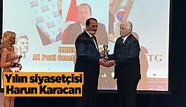 Yılın siyasetçisi ödülü Harun Karacan'a