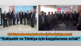 """Çakırözer: """"Eskişehir ve Türkiye için kaygılarımız ortak"""""""