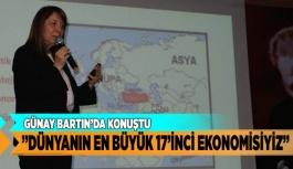 """EMİNE NUR GÜNAY """"DÜNYANIN EN BÜYÜK 17'İNCİ EKONOMİSİYİZ"""""""